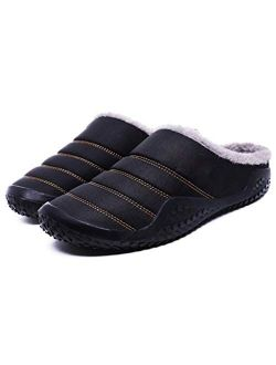 UXZDX CUJUX Slippers House Men's Winter Shoes Soft Man Home Slippers Cotton Shoes Fleece Warm Anti-Skid Man Slippers (Color : Blue, Size : 40)