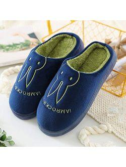 UXZDX CUJUX Home Slippers House for Men Winter Man House Slippers Shoes Short Plush Slippers