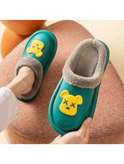 XLEVE Men Plush Furry Warm and Fuzzy Slippers Winter Shoes Soft Home Slippers Cotton Shoes Fleece Warm