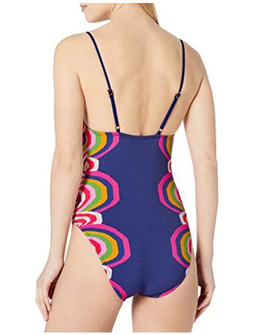 Trina Turk Women's High-Leg Maillot One Piece Swimsuit
