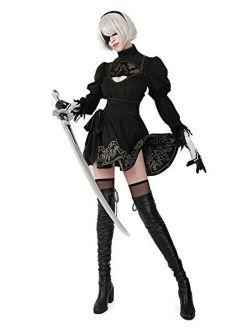 miccostumes Women's No 2 Type B Cosplay Costume Leotard Skirt with Hairband Leggings