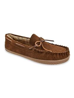 Brown Faux Fur Lined Trapper Moccasin Slipper