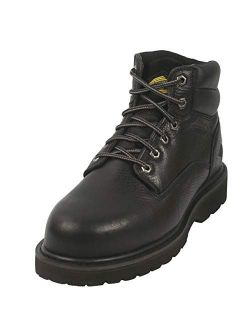 6 Inch Non Slip Steel Toe Work Boots for Men, Dependable Safety with Protective Oil Resistant Mens Shoes, Outdoor Construction, Lightweight and Waterproof Electrician Wor