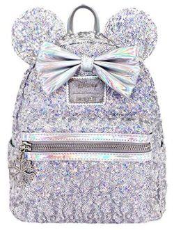 X Lasr Exclusive Disney Holographic Sequin Minnie Mini Backpack