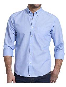 UNTUCKit Hillside - Untucked Shirt for Men, Solid Blue, 100% Cotton