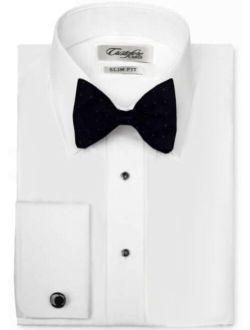 Cardi Men's 100% Cotton Laydown Collar Fitted Tuxedo Shirt
