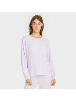 Women's Striped Perfectly Cozy Lounge Sweatshirt - Stars Above™