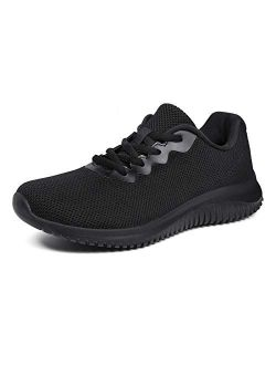 Akk Womens Lightweight Walking Shoes - Comfort Tennis Fashion Sneaker Casual Lace Up Non Slip Athletic Shoes for Gym Running Work Out