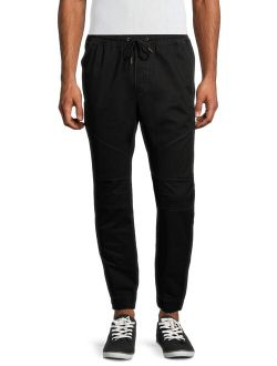Men's And Big Men's Woven Seamed Twill Jogger Pants, Up To 5xl