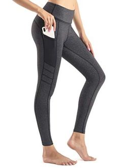 Yoga Pants For Women With Pockets High Waist Workout Running Leggings Tummy Control 4-way Stretch