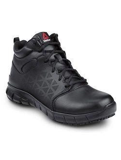 Work Sublite Cushion Work, Black, Men's, Mid-athletic Style Slip Resistant Soft Toe Work Shoe