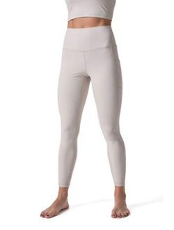 Leggings For Women, Naked Feeling Yoga Pants 7/8 With Side Pockets For Sports Workout