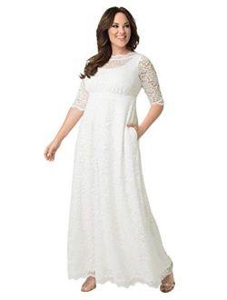 Kiyonna Women's Plus Size Sweet Serenity Wedding Gown