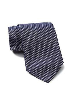 Boss Woven Pattern Italian Silk Tie, Dark Blue 50424840