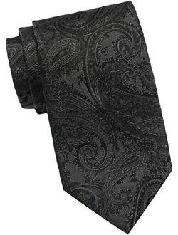 Boss Men's Silk Paisley Necktie, Black-50324477