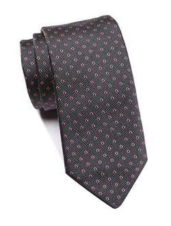 Men's Patterned Silk Tie