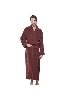 LZJDS Oversize Men's Women's Bathrobes for Couples Four Seasons General Cotton Towels Long Autumn and Winter Robe Thickened Bathrobe Nightgowns Robes Pyjamas,Light Gray b