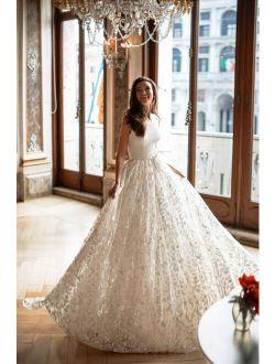Beautiful Elegant Wedding Dress by European Designer IIvory EU42/US10 NWT