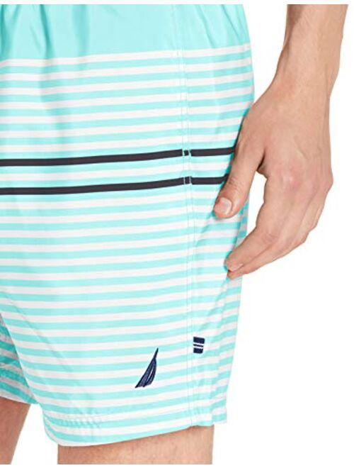 Nautica Men's Quick Dry Varigated Stripe Series Swim Trunk