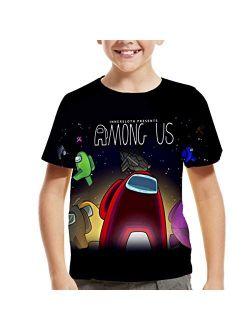 Among Us Shirt for Big Kids and Among Us Boys Girls,Short Sleeve Tops for Teens