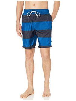 Men's Quick Dry Rugby Stripe Series Swim Trunk