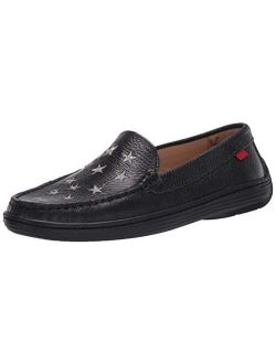Unisex-child Leather Driver With Gold Star Detail Loafer