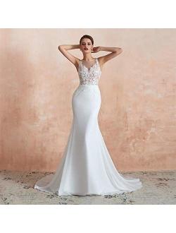 haixiangdress women's Lace Mermaid Prom Bridal Gown Evening Dress Wedding Dress