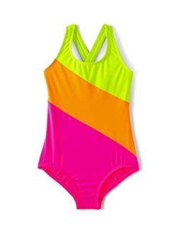 Girls Racerback One Piece Swimsuit