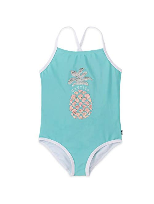 Nautica Girls' One Piece Swimsuit with UPF 50+ Sun Protection