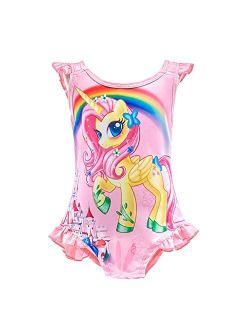 Dressy Daisy Girls Unicorn One Piece Bathing Suit Swimsuit Swimwear