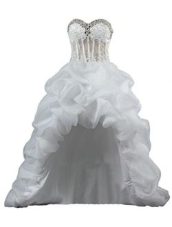ANTS Women's Sexy Ruched Dresses for Weddings Sweetheart Bridal Dress