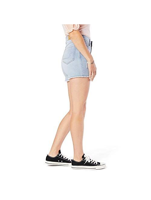 Signature by Levi Strauss & Co. Gold Label Juniors High Rise Shortie Cut Off Shorts