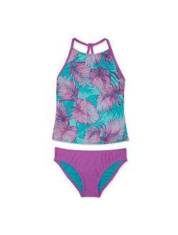 Girls' Swimsuit Two Piece Tankini Thin Strap