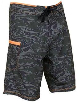 Maui Rippers Maalaea Ripper Camo Boardshorts Swimsuit for Men   4 Way Stretch Swim Trunks & Swimwear