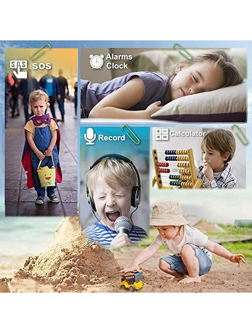Kids Smart Watches for Girls Boys, Cell Phone Watch for Kids Educational, HD Touch Screen Games Watch Children Electronic Learning Toys Birthday Gifts for 3-14 Years Stud