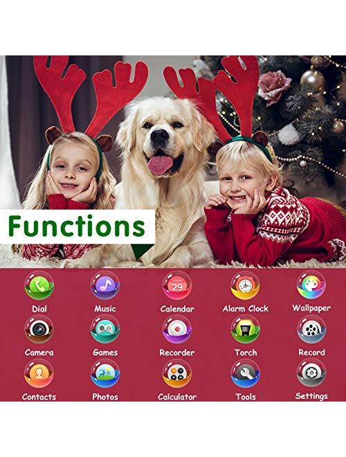 Kids Smartwatch for Boys Girls - Kids Smart Watch Phone Touch Screen with Calls Games Alarm Music Player Camera SOS Calculator Calendar Children Toys Birthday Gifts for 4