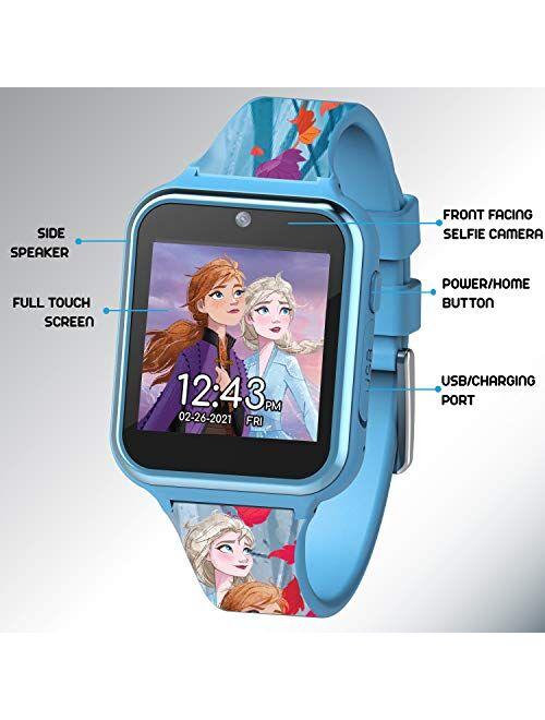 Disney Frozen 2 Touch-Screen Smartwatch, Built in Selfie-Camera, Easy-to-Buckle Strap, Girls Smart Watch - Model: FZN4587