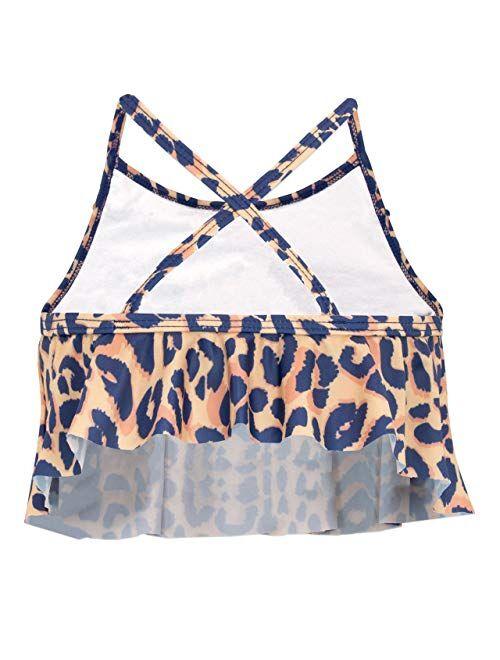 Harry Bear Girls' Leopard Print Swimsuit
