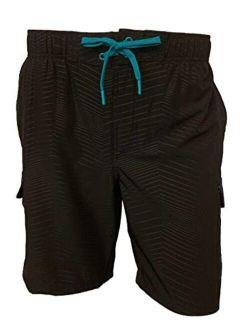 ZeroXposur Mens Axed 4 Way Stretch Board Short Swim Trunk Swimwear