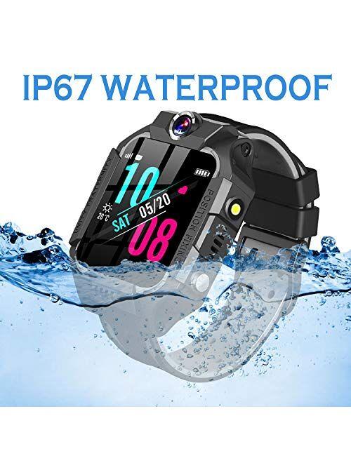 GBD Smart Watch for Kids-IP67 Waterproof Smartwatch Phone with Call Games SOS Alarm Clock 12/24 Hr,Kids Digital Wrist Watch Stopwatch for Children Boys Girls Age 3-12 Lea