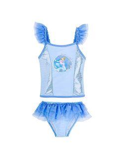 Cinderella Deluxe Swimsuit For Girls