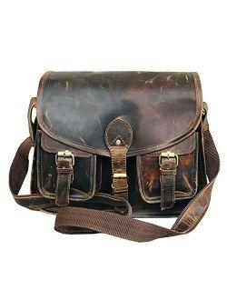 Ruzioon buffalo Leather Crossbody Purse Women Shoulder Bag Satchel Ladies Travel Purse Genuine Leather