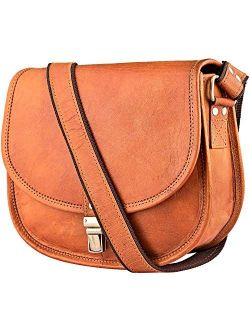Urban Leather Shoulder Bags for Women, Saddle Cross Body Purse Handbags for Young Women & Teen Girls, Genuine Leather Satchel Bags