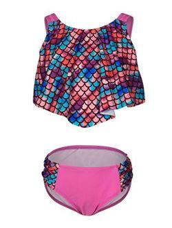 iDrawl Kids Bikini Ruffle Two Piece Swimwear