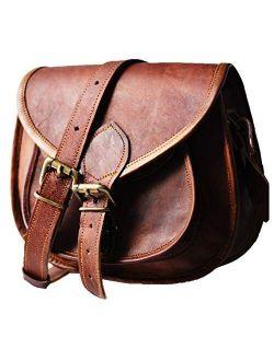 Urban Dezire Women's Leather Vintage Messenger Cross Body Bag