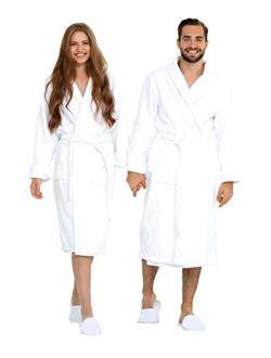 Ecolinen Luxury Bathrobe Hotel Robe Spa Wear for Men and Women