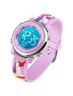 Kids Unicorn Digital Sport Waterproof Watch for Girls Boys, Kid Sports Outdoor LED Electrical Watches with Luminous Alarm Stopwatch Child Wristwatch