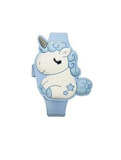Kids Unicorn Watch for Little Girls, Learning Time 3D Cute Cartoon Toddler Shape Clamshell Design Kids Digital Led Watch for Kids Birthday Presents Gifts for 3-8 Year Old