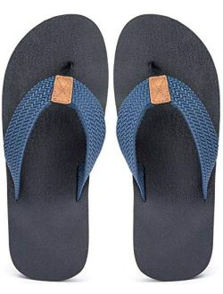 MAIITRIP Men's Soft Comfort Flip Flops(Size:7-15)
