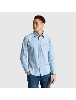 Men's United By Blue Organic Chambray Long Sleeve Button-Down Shirt - Chambray Indigo